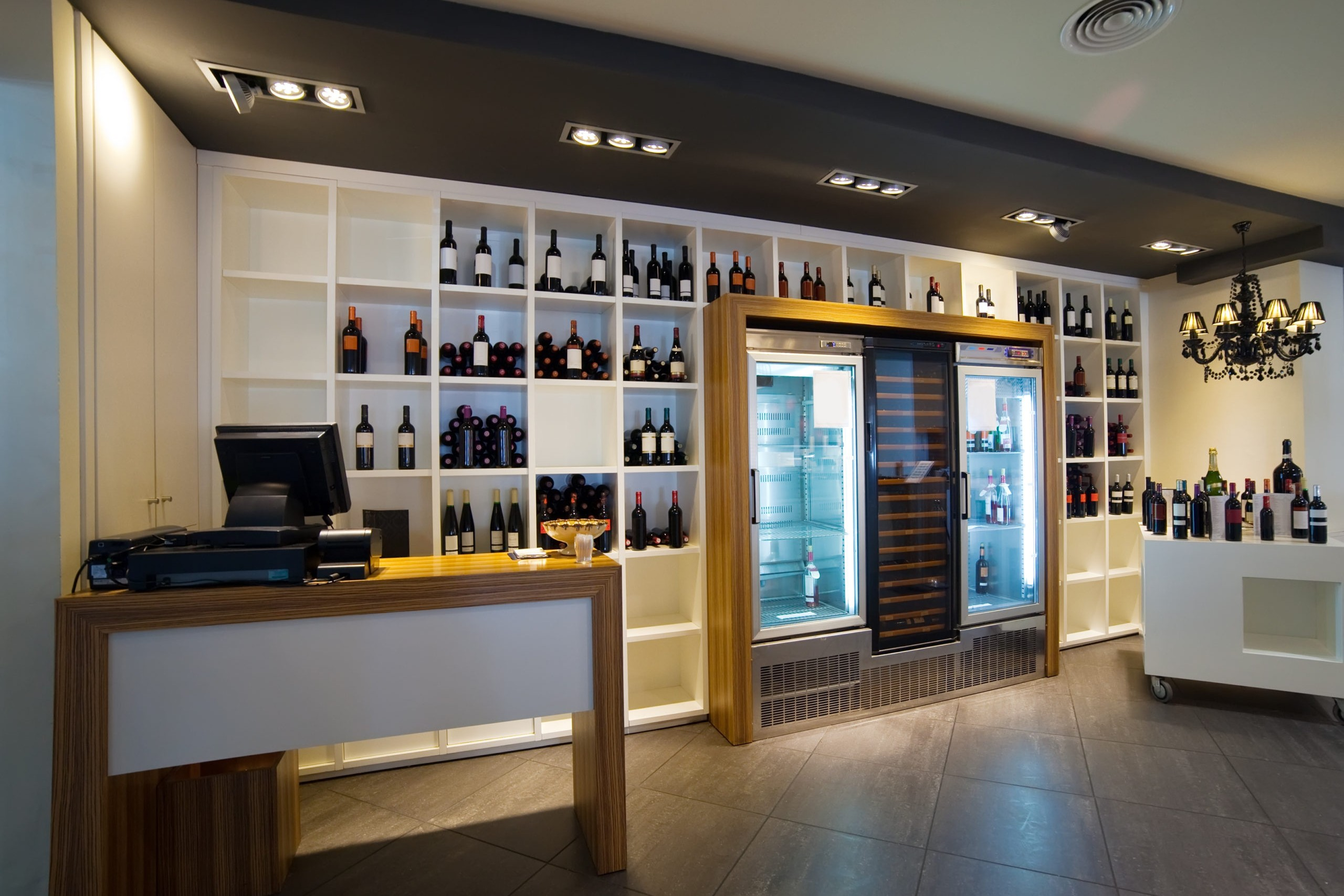 Interior of  wine shop